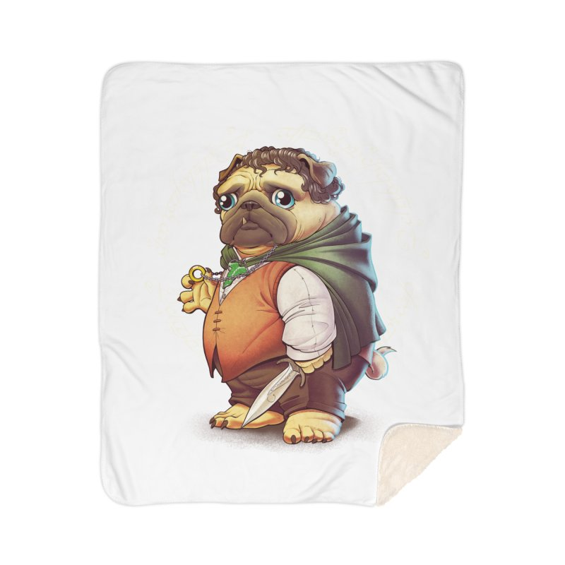 Frodo Puggins Home Sherpa Blanket Blanket by T2U