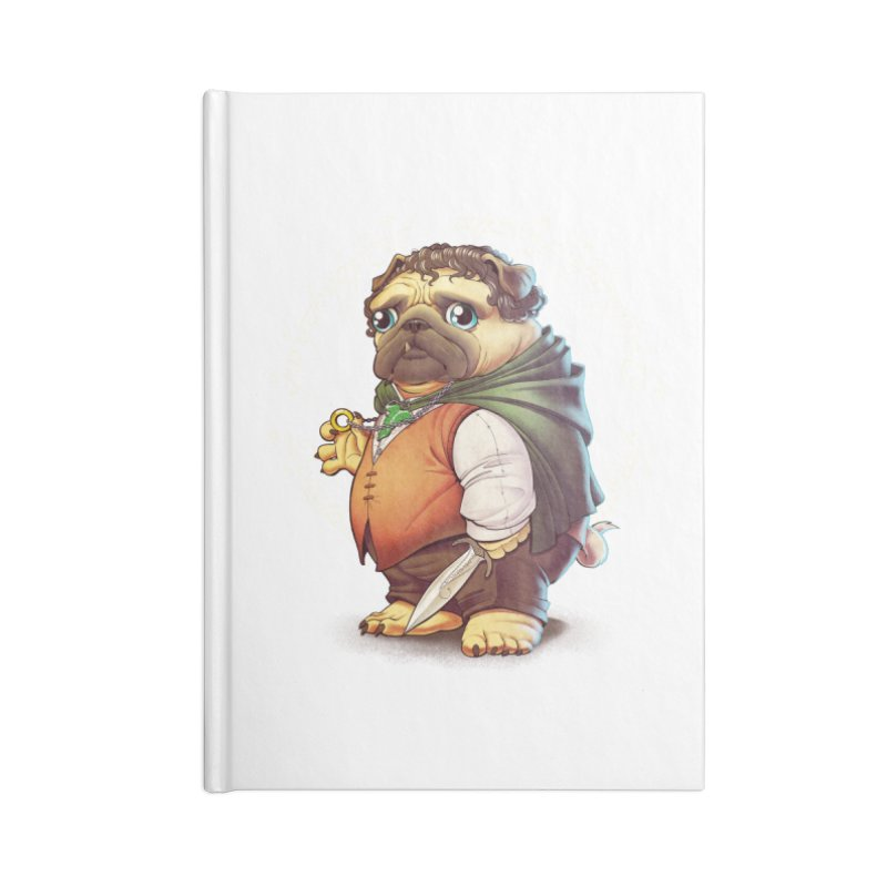 Frodo Puggins Accessories Lined Journal Notebook by T2U