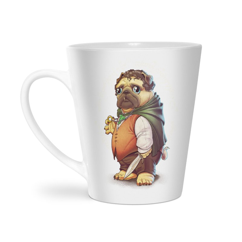 Frodo Puggins Accessories Latte Mug by T2U