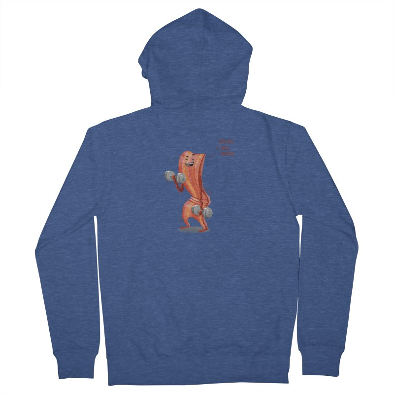Bacon is Healthy Men's French Terry Zip-Up Hoody by T2U