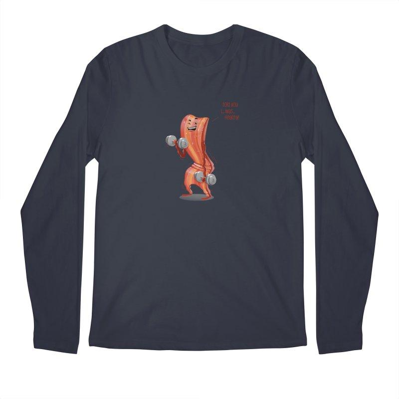 Bacon is Healthy Men's Longsleeve T-Shirt by T2U