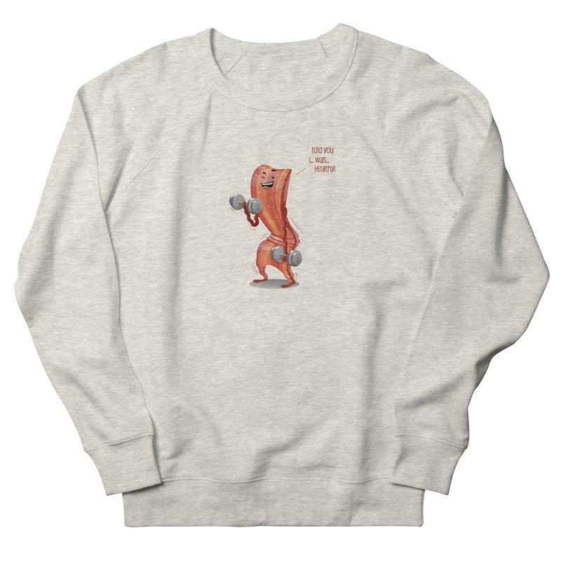 Bacon Muscles Men's Sweatshirt by Tiago Möller Art Shop