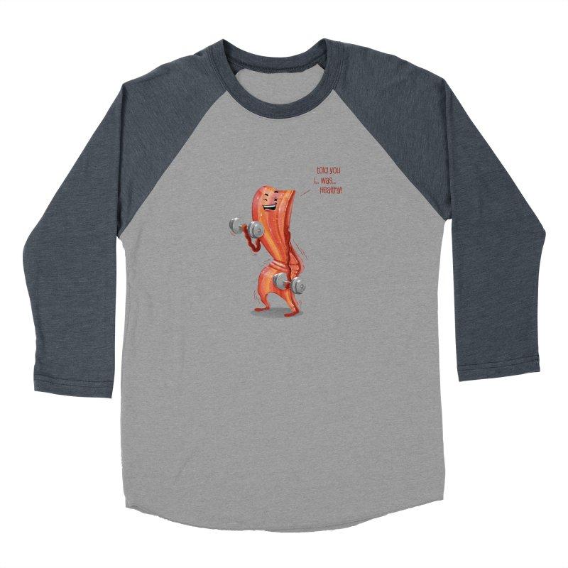 Bacon Muscles Men's Baseball Triblend T-Shirt by Tiago Möller Art Shop