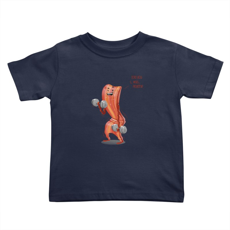 Bacon Muscles Kids Toddler T-Shirt by Tiago Möller Art Shop