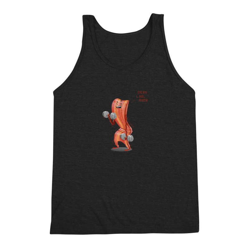 Bacon is Healthy Men's Triblend Tank by T2U