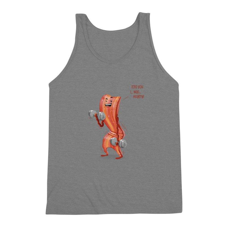 Bacon is Healthy Men's Triblend Tank by T2U