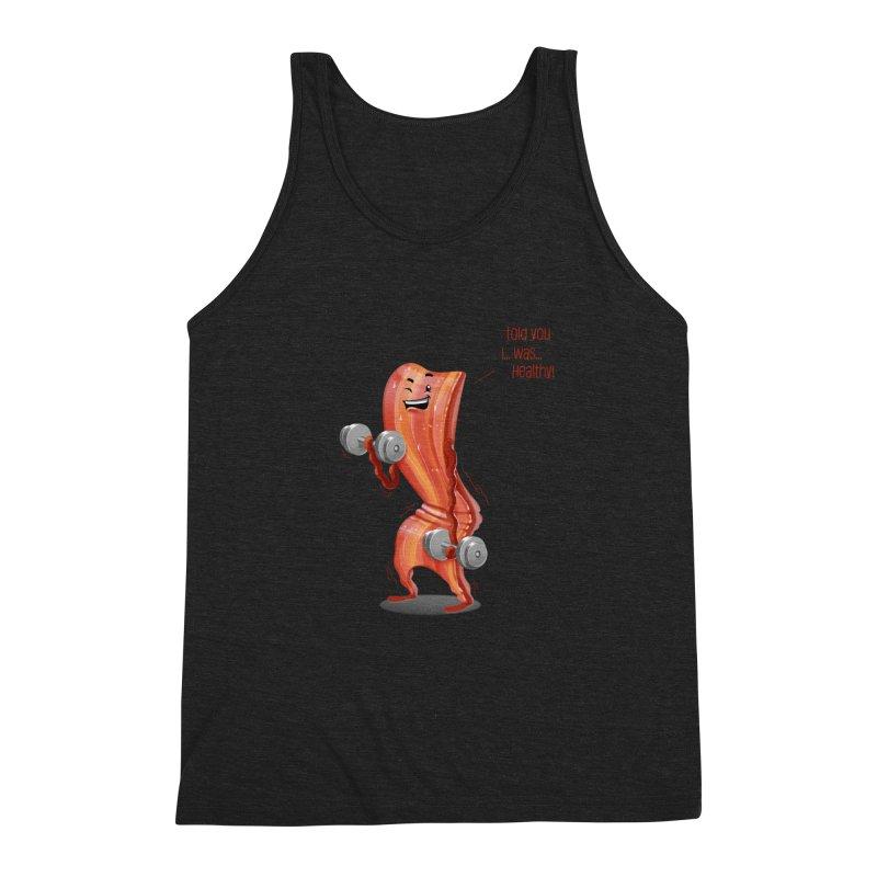 Bacon is Healthy Men's Tank by T2U