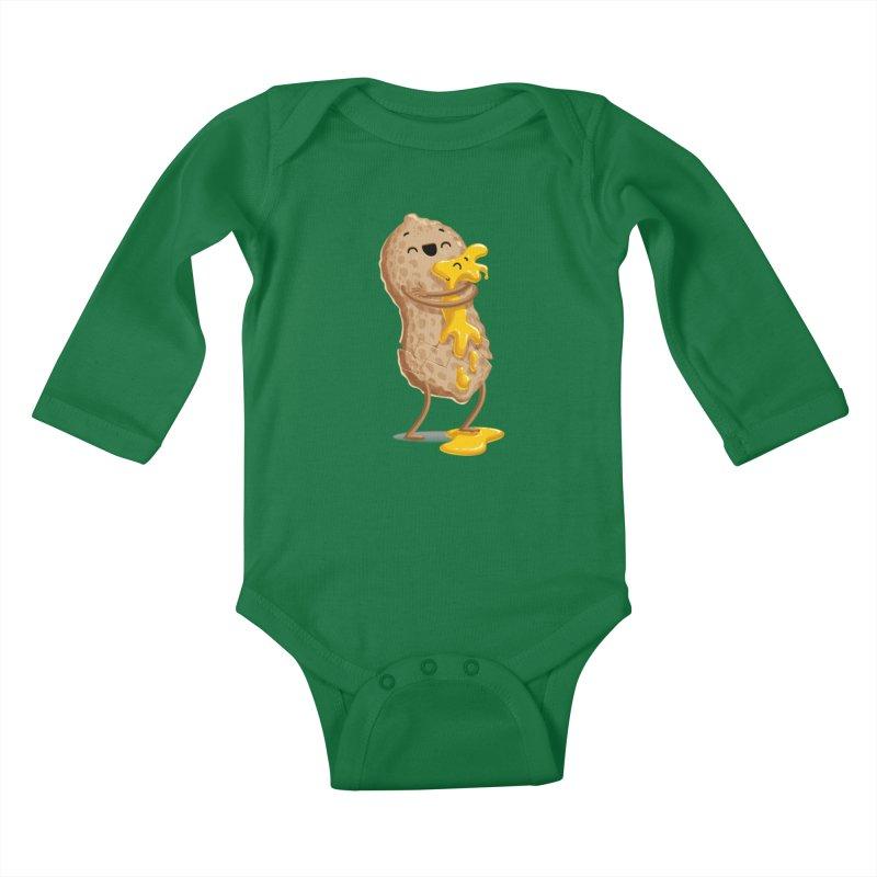Peanut'n Butter Kids Baby Longsleeve Bodysuit by T2U