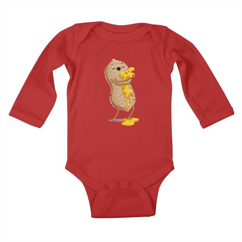 Peanut'n Butter Kids Baby Longsleeve Bodysuit by Tiago Möller Art Shop