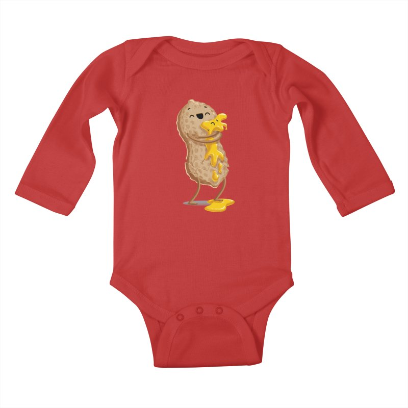 Peanut'n Butter Kids Baby Longsleeve Bodysuit by Tiago Möller Art Shop