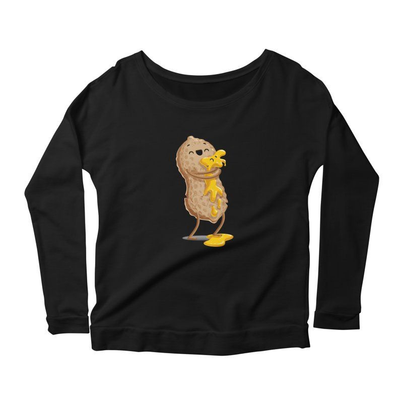 Peanut'n Butter Women's Scoop Neck Longsleeve T-Shirt by T2U