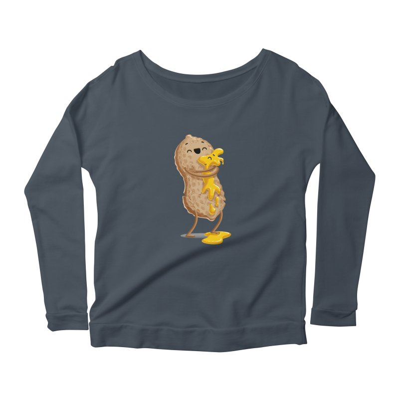 Peanut'n Butter Women's Longsleeve Scoopneck  by Tiago Möller Art Shop