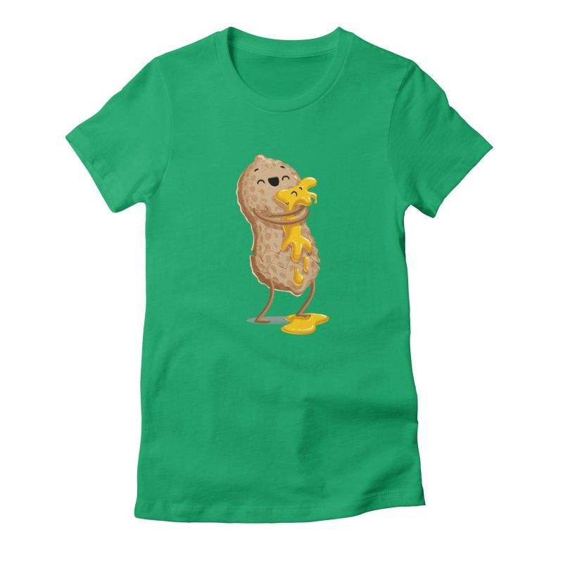 Peanut'n Butter Women's Fitted T-Shirt by Tiago Möller Art Shop