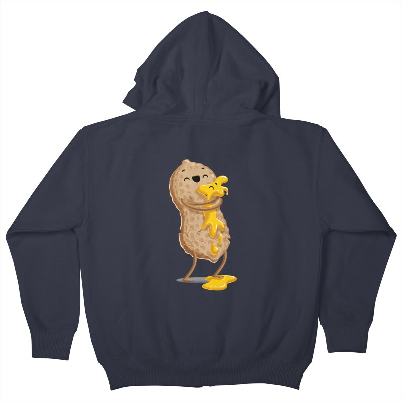 Peanut'n Butter Kids Zip-Up Hoody by Tiago Möller Art Shop