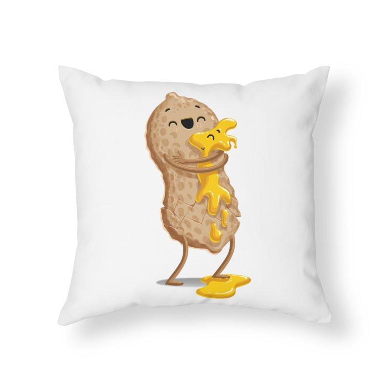 Peanut'n Butter Home Throw Pillow by T2U