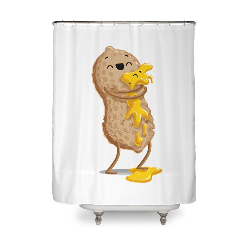 Peanut'n Butter Home Shower Curtain by Tiago Möller Art Shop
