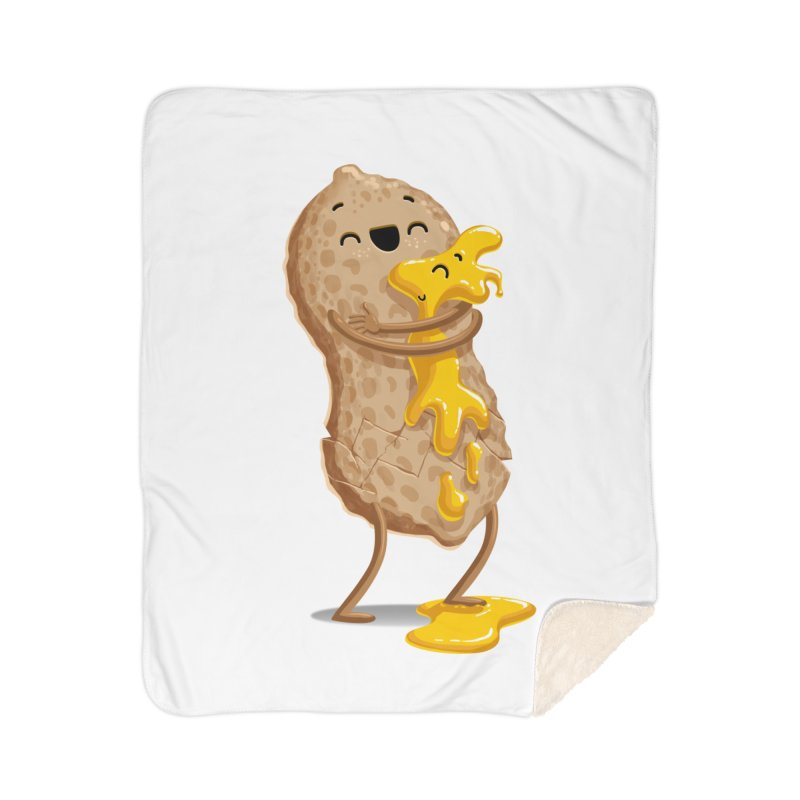 Peanut'n Butter Home Sherpa Blanket Blanket by T2U