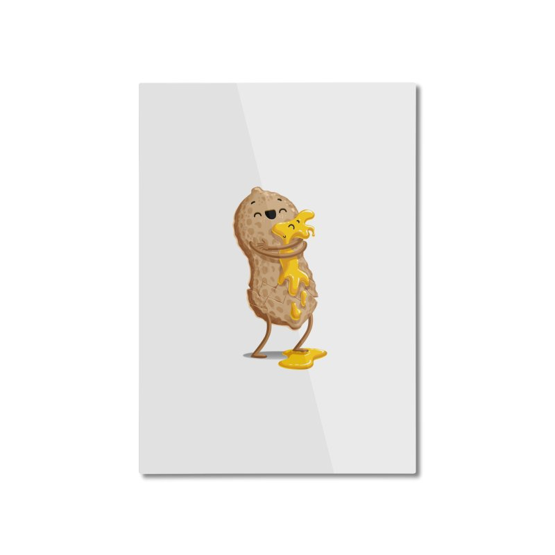 Peanut'n Butter Home Mounted Aluminum Print by T2U