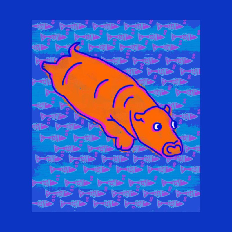 Diving Hippo Accessories Mug by tiikae's Shop
