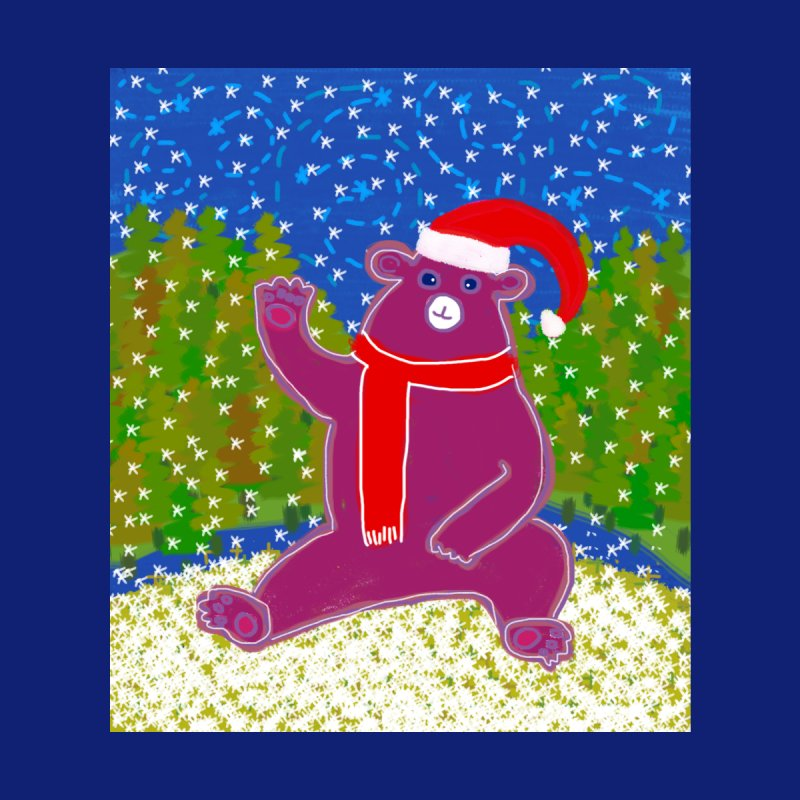 Bear waving in the snow Accessories Mug by tiikae's Shop