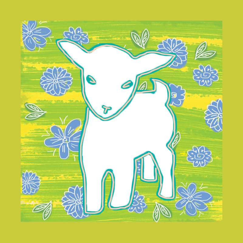 Baby goat in blues Accessories Sticker by tiikae's Shop