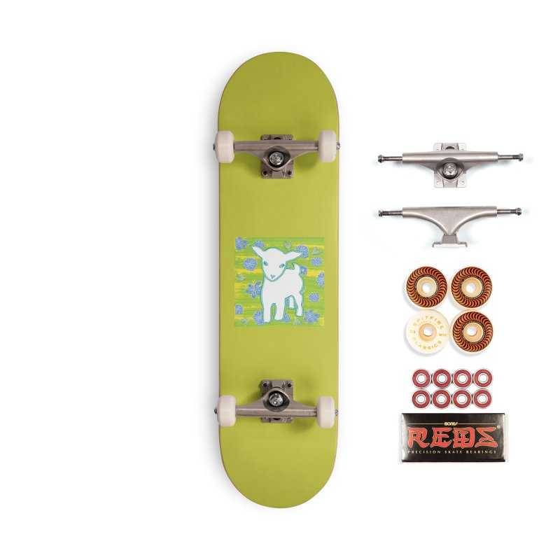 Baby goat in blues Accessories Skateboard by tiikae's Shop