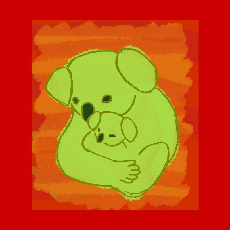 Koala with baby koala Accessories Bag by tiikae's Shop