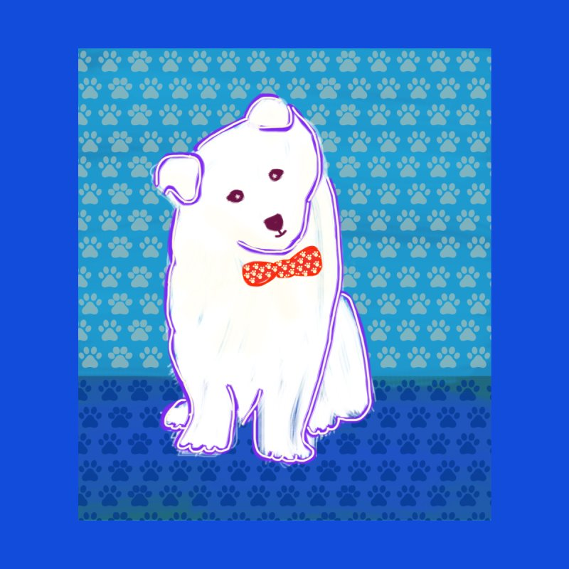Samoyed Puppy with bowtie Accessories Beach Towel by tiikae's Shop