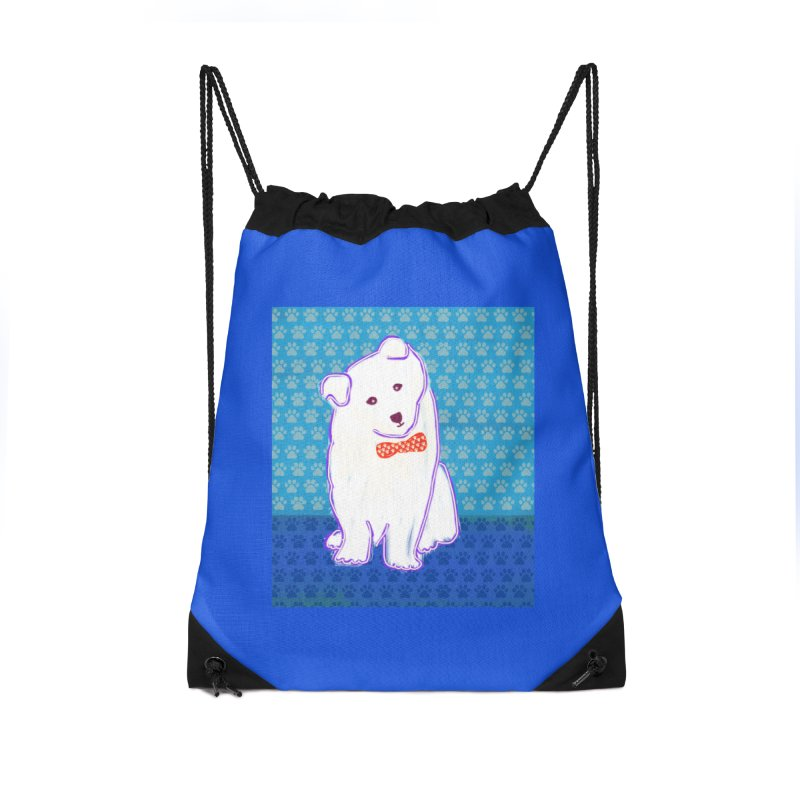 Samoyed Puppy with bowtie Accessories Bag by tiikae's Shop