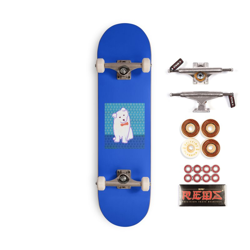 Samoyed Puppy with bowtie Accessories Skateboard by tiikae's Shop