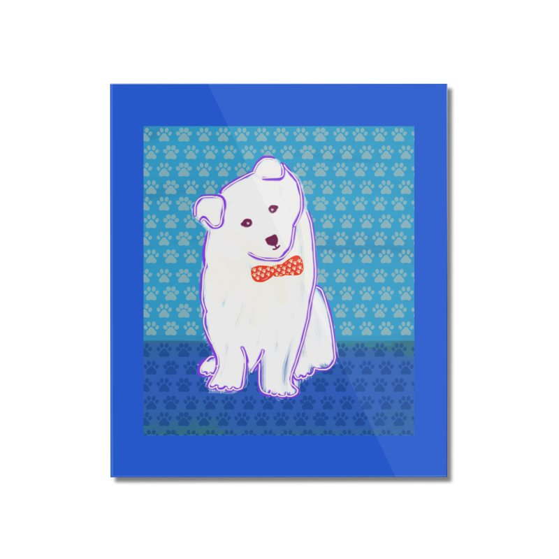 Samoyed Puppy with bowtie Home Mounted Acrylic Print by tiikae's Shop