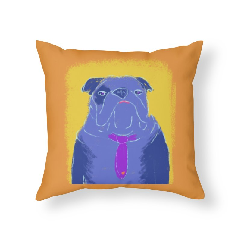 Bulldog Home Throw Pillow by tiikae's Shop