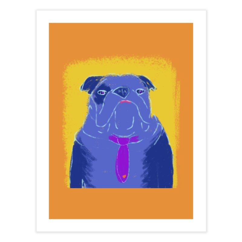 Bulldog Home Fine Art Print by tiikae's Shop