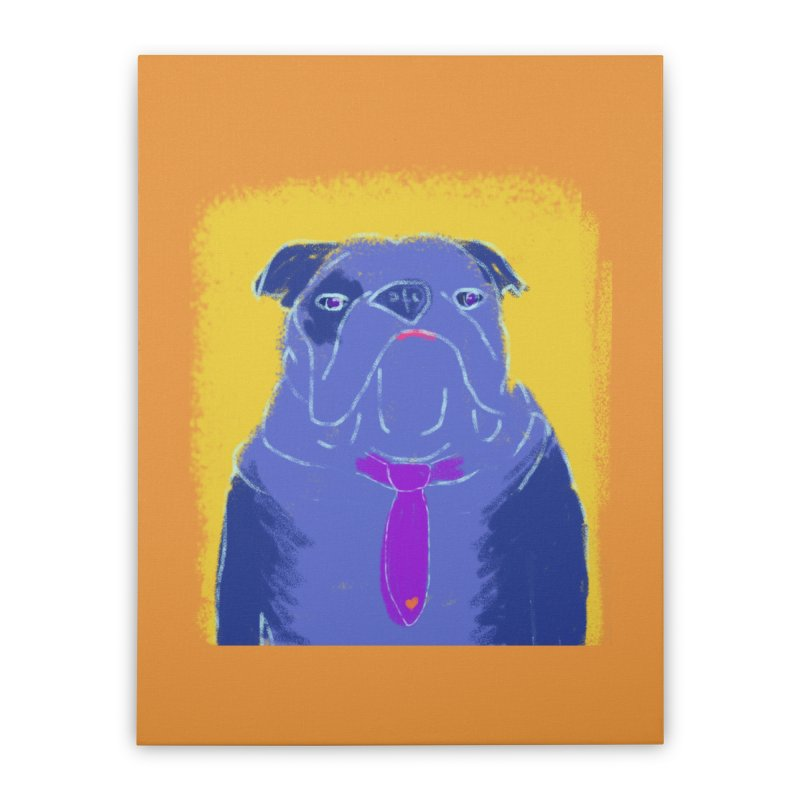 Bulldog Home Stretched Canvas by tiikae's Shop