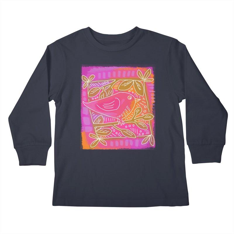Birdie Kids Longsleeve T-Shirt by tiikae's Shop