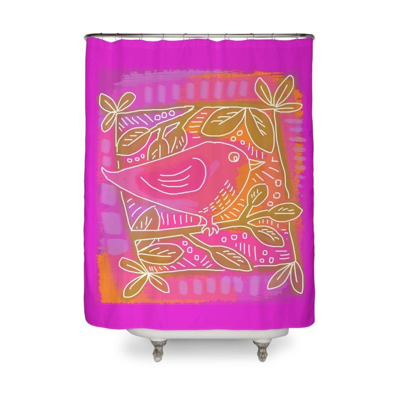 Birdie Home Shower Curtain by tiikae's Shop
