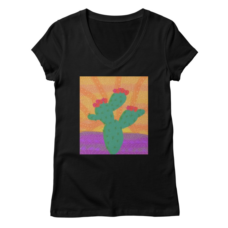 a Cactus Women's V-Neck by tiikae's Shop
