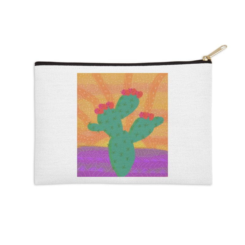 a Cactus Accessories Zip Pouch by tiikae's Shop