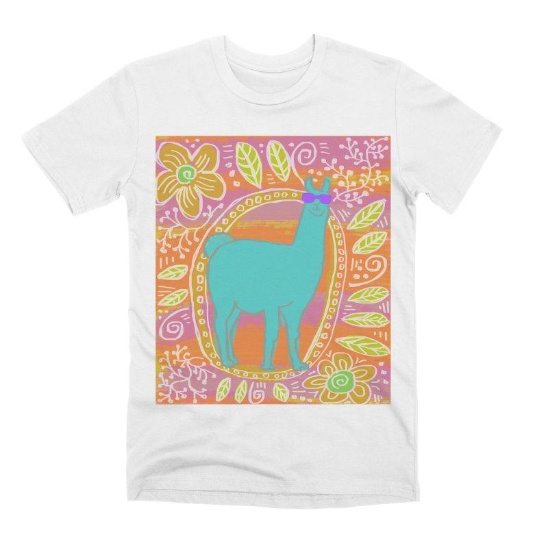 one cool llama Men's T-Shirt by tiikae's Shop