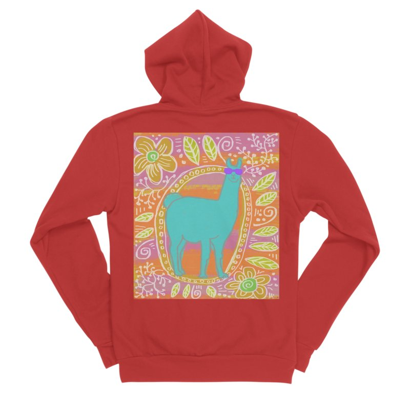 one cool llama Women's Zip-Up Hoody by tiikae's Shop
