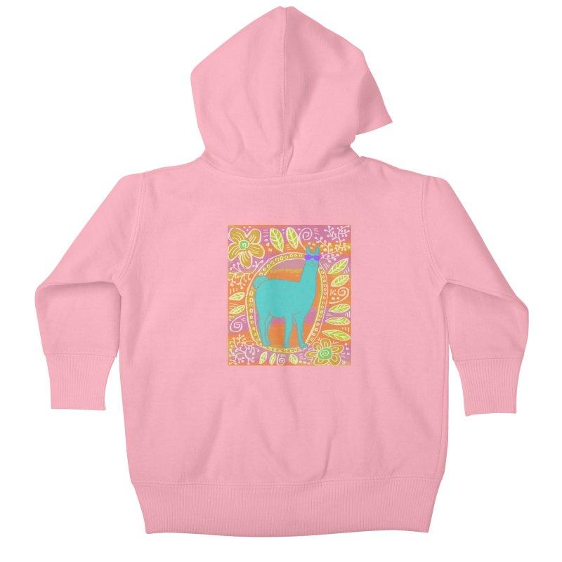 one cool llama Kids Baby Zip-Up Hoody by tiikae's Shop