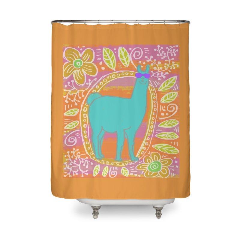 one cool llama Home Shower Curtain by tiikae's Shop