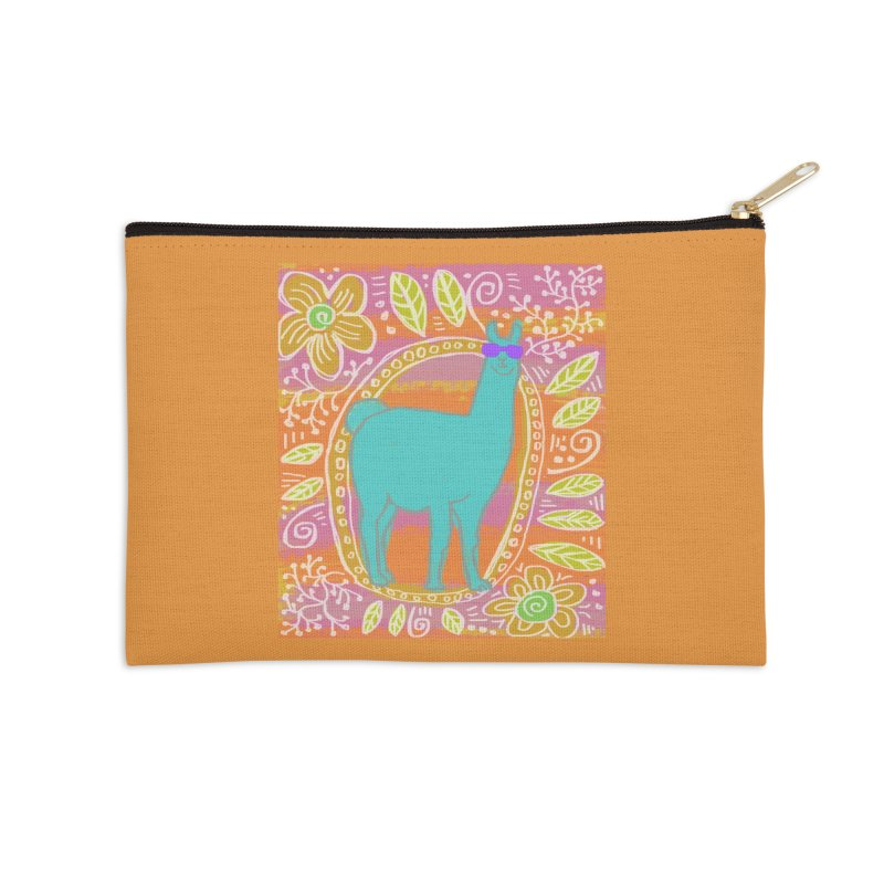 one cool llama Accessories Zip Pouch by tiikae's Shop