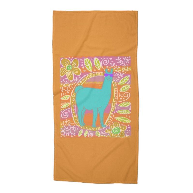 one cool llama Accessories Beach Towel by tiikae's Shop