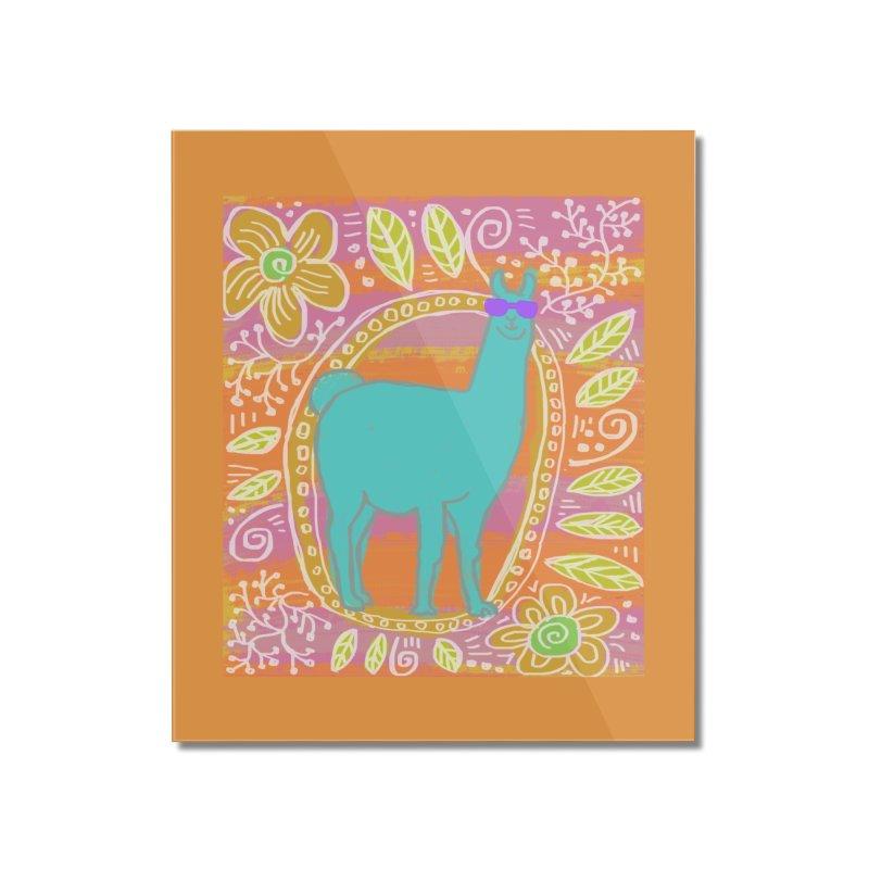 one cool llama Home Mounted Acrylic Print by tiikae's Shop
