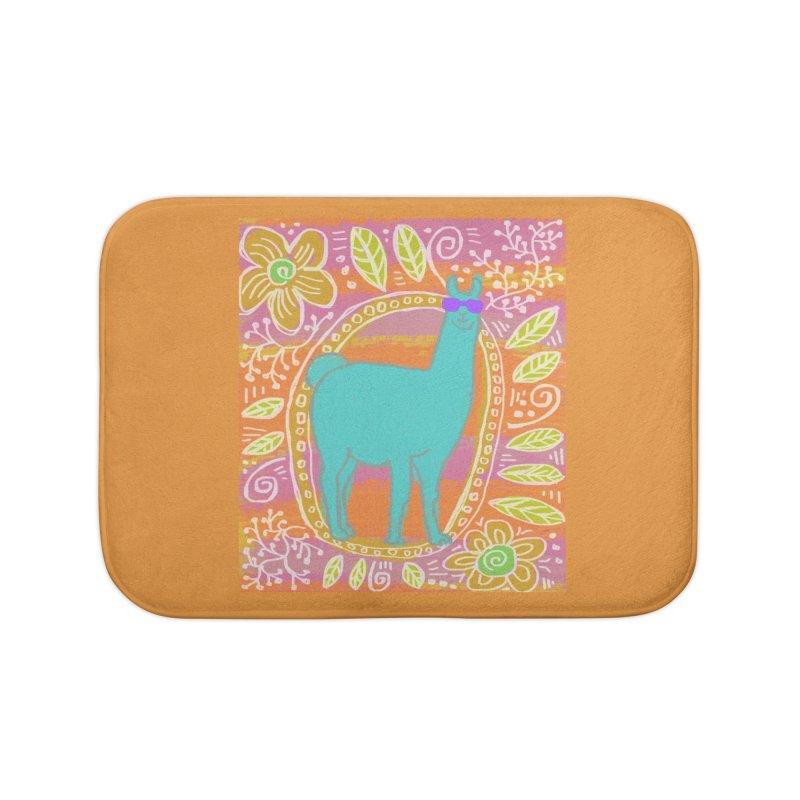 one cool llama Home Bath Mat by tiikae's Shop