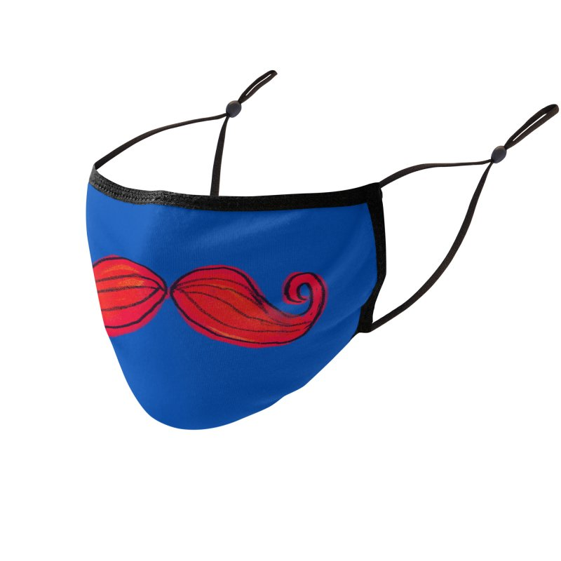 moustache facemask Accessories Face Mask by tiikae's Shop