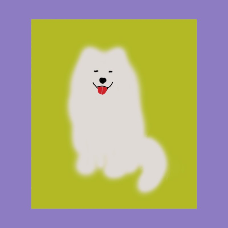 Fluffy Samoyed Cloud Accessories Face Mask by tiikae's Shop