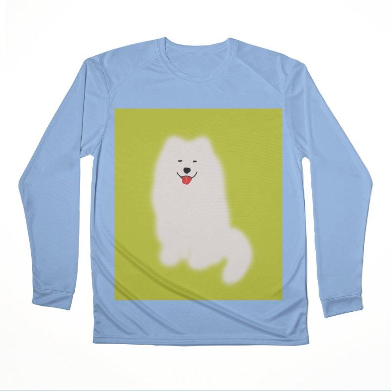 Fluffy Samoyed Cloud Women's Longsleeve T-Shirt by tiikae's Shop