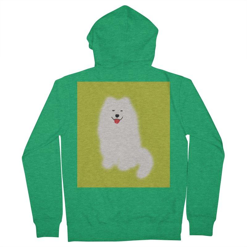 Fluffy Samoyed Cloud Men's Zip-Up Hoody by tiikae's Shop